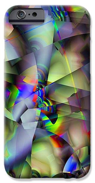 Fractal iPhone Cases - Fractal Cubism iPhone Case by Ron Bissett