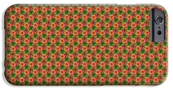 Diagram Paintings iPhone Cases - Fractal Pattern 0005 iPhone Case by Bruce Nutting