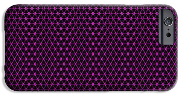 Diagram Paintings iPhone Cases - Fractal Pattern 253 iPhone Case by Bruce Nutting