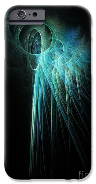 Abstract Digital Digital Art iPhone Cases - Fractal Rays iPhone Case by John Edwards
