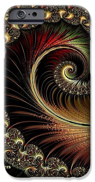 Concept Pastels iPhone Cases - Fractalia Irmania Catus 1 no. 1 V a iPhone Case by Gert J Rheeders