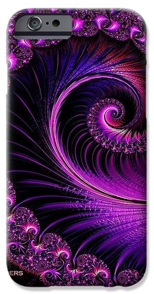 Business Digital Art iPhone Cases - Fractalia Irmania Catus 1 no. 4 V a iPhone Case by Gert J Rheeders
