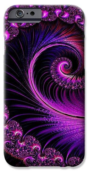 Business Digital Art iPhone Cases - Fractalia Irmania Catus 1 no. 4 V b iPhone Case by Gert J Rheeders