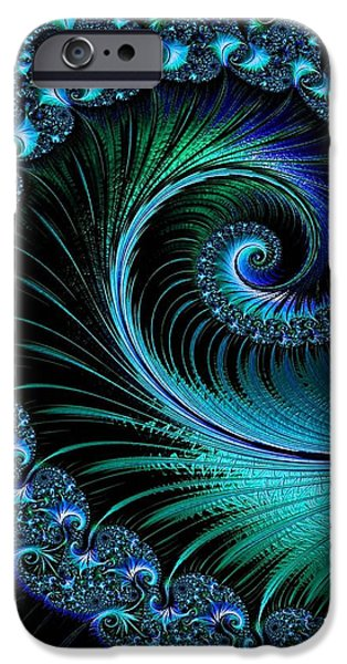 Concept Pastels iPhone Cases - Fractalia Irmania Catus 1 no. 6  V b iPhone Case by Gert J Rheeders