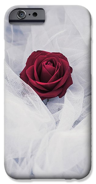 White Cloth iPhone Cases - Fragile iPhone Case by Joanna Jankowska