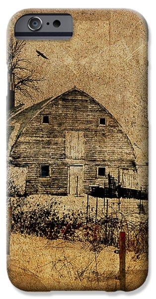 Fragmented Barn  iPhone Case by Julie Hamilton