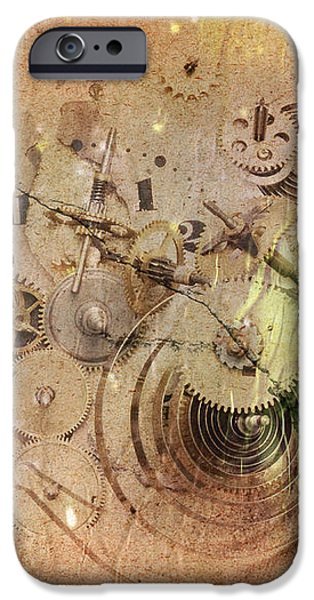 Fragmented Time iPhone Case by Michal Boubin