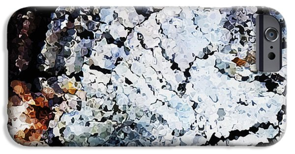 Abstract Digital iPhone Cases - Fragments iPhone Case by Wagner Povoa