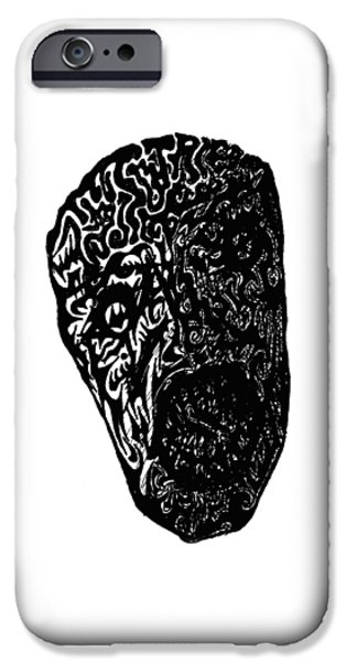 Abstract Digital Drawings iPhone Cases - Frailty  iPhone Case by AR Teeter