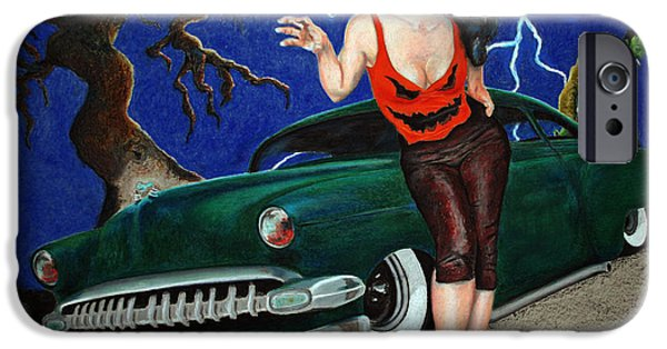 Creepy Pastels iPhone Cases - Franken Chev iPhone Case by Richard Cable