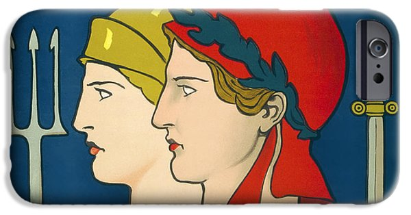 Ww1 iPhone Cases - FRANCE and GREAT BRITAIN SOLIDARITY W W 1  1918 iPhone Case by Daniel Hagerman