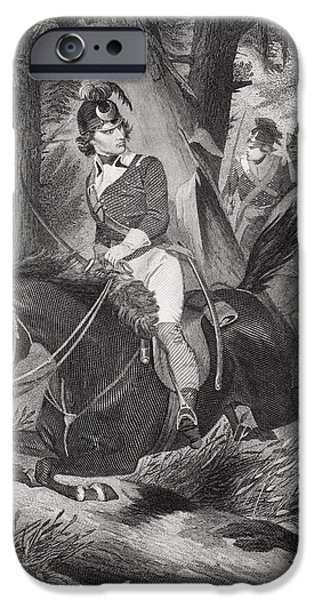 American Revolution iPhone Cases - Francis Marion 1732-1795. Officer iPhone Case by Ken Welsh