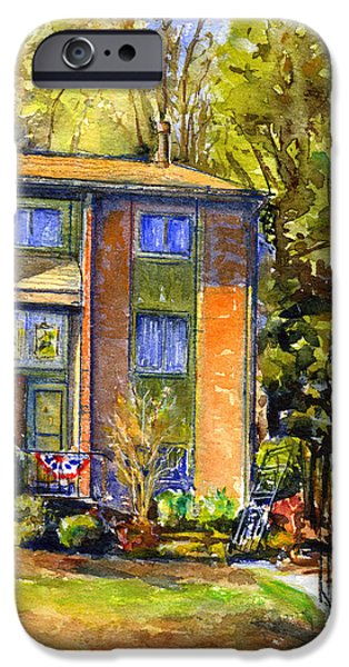 House iPhone Cases - Frank and Elaines House iPhone Case by John D Benson