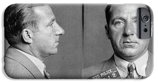 Police iPhone Cases - Frank Costello (1891-1973) iPhone Case by Granger
