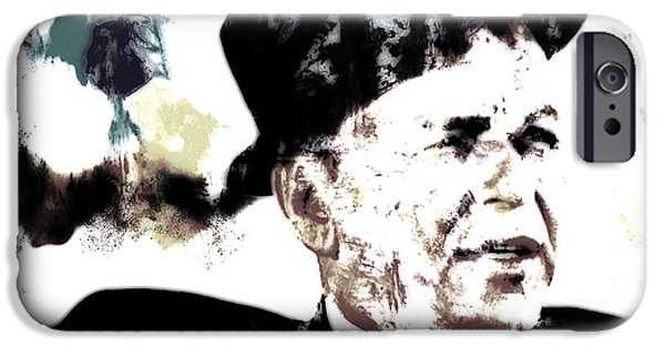 Frank Sinatra Paintings iPhone Cases - Frank Sinatra iPhone Case by Brian Reaves