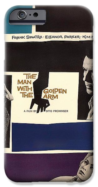 1950s Movies Mixed Media iPhone Cases - Frank Sinatra in The Man With the Golden Arm 1955 iPhone Case by Mountain Dreams