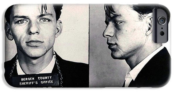 Police iPhone Cases - Frank Sinatra Mug Shot Horizontal iPhone Case by Tony Rubino
