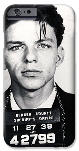 Frank Sinatra Paintings iPhone Cases - Frank Sinatra Mug Shot Vertical iPhone Case by Tony Rubino