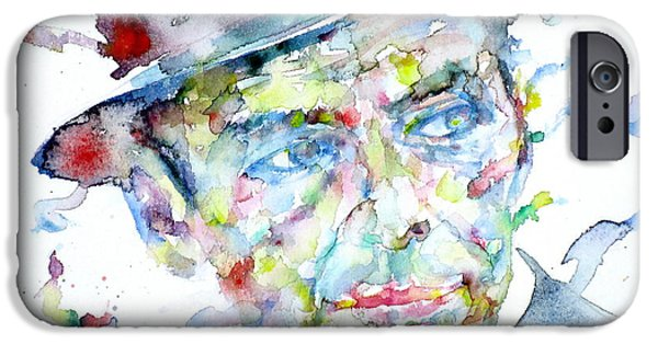 Frank Sinatra Paintings iPhone Cases - FRANK SINATRA - watercolor portrait.2 iPhone Case by Fabrizio Cassetta