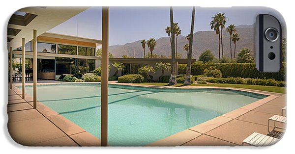 Recently Sold -  - Piano iPhone Cases - Frank Sinatras Twin Palms Estate iPhone Case by Mountain Dreams