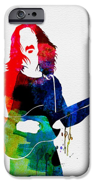 British Rock Star iPhone Cases - Frank Watercolor iPhone Case by Naxart Studio