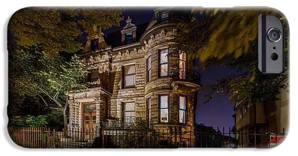 Haunted House iPhone Cases - Franklin Castle  iPhone Case by Frank  Cramer