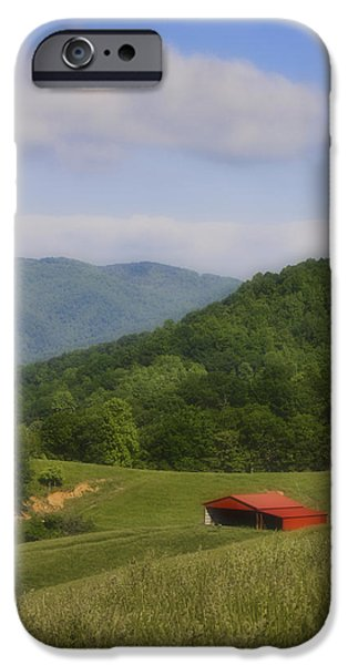 Franklin County Virginia Red Barn iPhone Case by Teresa Mucha