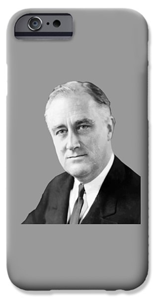Three iPhone Cases - Franklin Delano Roosevelt iPhone Case by War Is Hell Store