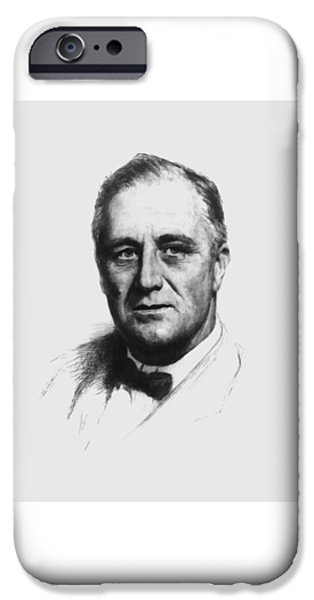 Democrat iPhone Cases - Franklin Roosevelt iPhone Case by War Is Hell Store
