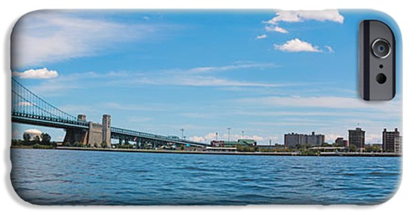 Franklin iPhone Cases - Frankline Bridge and Camden Skyline iPhone Case by Thomas Marchessault