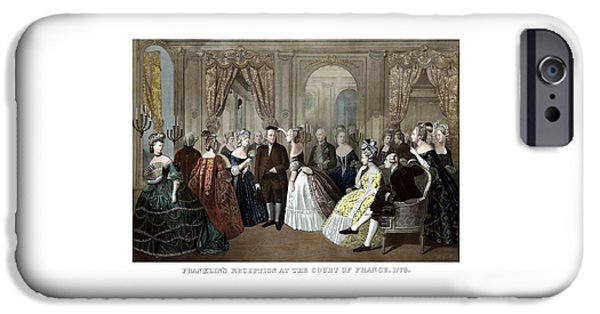 American Revolution iPhone Cases - Franklins Reception At The Court Of France iPhone Case by War Is Hell Store