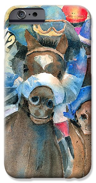 Frantic Finish iPhone Case by Arline Wagner
