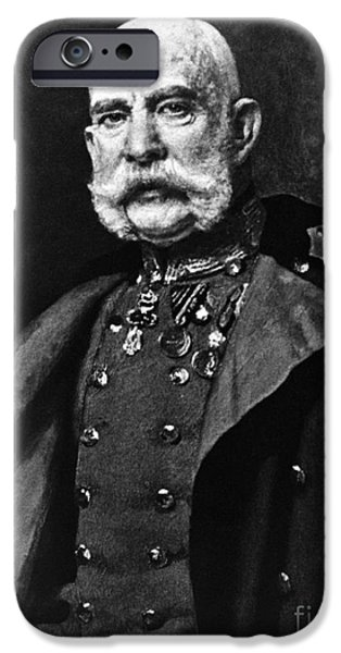 Personalities Photographs iPhone Cases - Franz Joseph I, Emperor Of Austria iPhone Case by Omikron