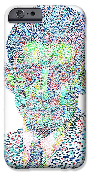 FRANZ KAFKA WATERCOLOR PORTRAIT.1 iPhone Case by Fabrizio Cassetta