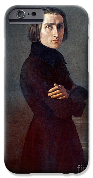 1839 iPhone Cases - Franz Liszt (1811-1886) iPhone Case by Granger