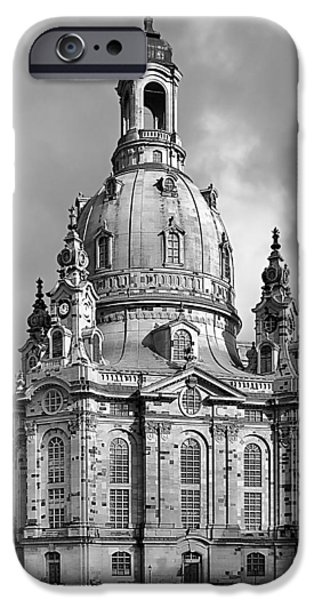 Deutschland iPhone Cases - Frauenkirche Dresden - Church of Our Lady iPhone Case by Christine Till