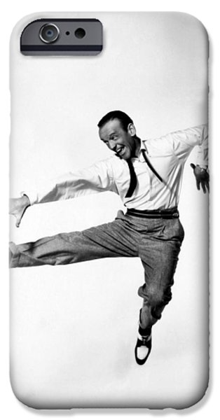 1950s Portraits iPhone Cases - Fred Astaire In Daddy Long Legs 1955 iPhone Case by Mountain Dreams
