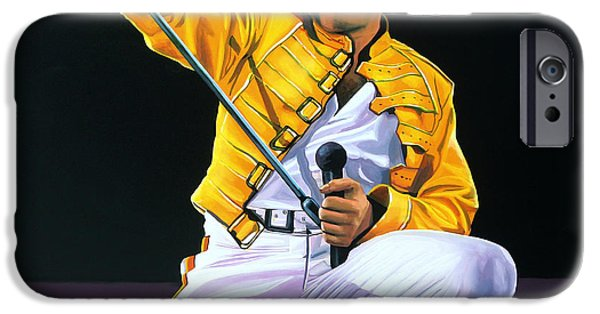 Little iPhone Cases - Freddie Mercury Live iPhone Case by Paul  Meijering