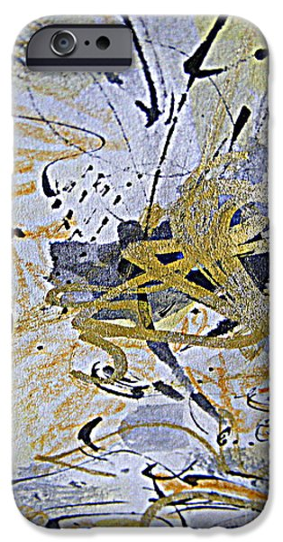Free Form Paintings iPhone Cases - Free Form iPhone Case by Nancy Kane Chapman