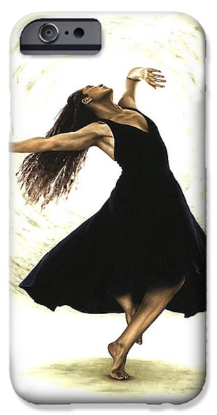 Best Sellers -  - Ballet Dancers iPhone Cases - Free Spirit iPhone Case by Richard Young
