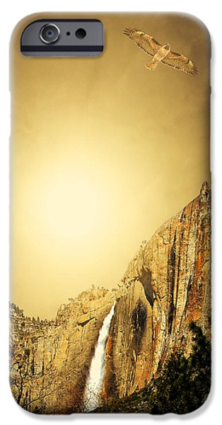 Free To Soar The Boundless Sky . Portrait Cut iPhone Case by Wingsdomain Art and Photography