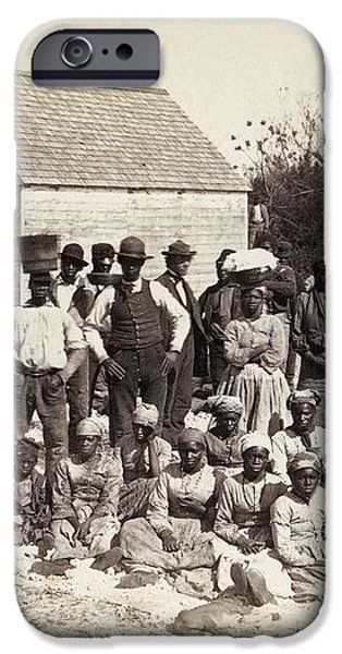 FREED SLAVES, 1862 iPhone Case by Granger