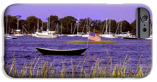 Newengland iPhone Cases - Freedom Bristol harbor Rhode Island iPhone Case by Tom Prendergast