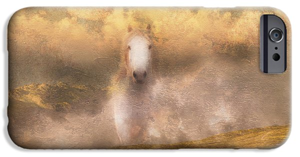 Mystical Landscape Mixed Media iPhone Cases - Freedom iPhone Case by Georgiana Romanovna