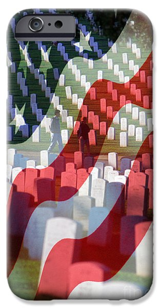 Fourth Of July iPhone Cases - Freedom Is Not Free iPhone Case by Jerry McElroy