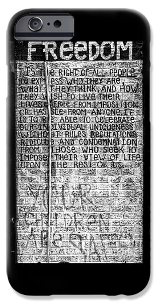 Freedom iPhone Cases - Freedom iPhone Case by James Aiken