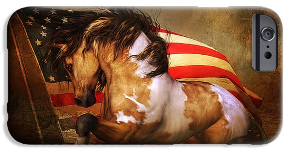 Freedom iPhone Cases - Freedom Run iPhone Case by Shanina Conway