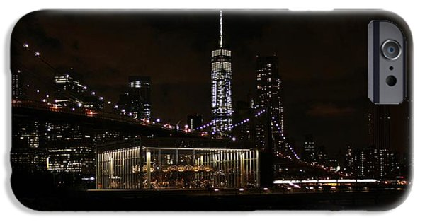 Empire State iPhone Cases - Freedom Tower Brooklyn Bridge and Jane iPhone Case by Karen Silvestri