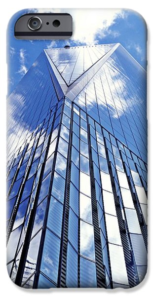 Freedom iPhone Cases - Freedom Tower iPhone Case by Sarah Loft