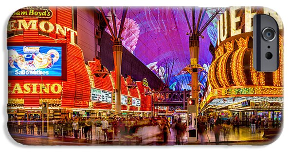 Traffic Sign iPhone Cases - Fremont Street Casinos iPhone Case by Az Jackson